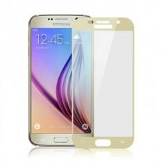 Folie protectie sticla securizata 4D ecran Samsung Galaxy A7 (2017) GOLD