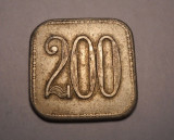 Jeton Schela Steaua Romana Valoare 200