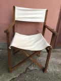 Scaun vechi,pliabil ,german,din lemn,cu material
