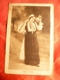 Ilustrata Femeie in Costum National- din Saliste ,interbelica Ed. Dadirlat Salis