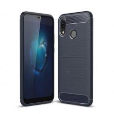 Husa Huawei P20 lite Tpu Carbon Fibre Brushed - Husa Telefon Huawei, Albastru, Gel TPU, Carcasa