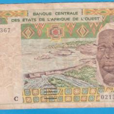 (1) BANCNOTA AFRICA DE VEST - 500 FRANCS 2002, LIT. C (BURKINA FASO)