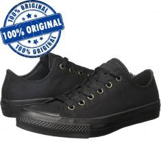 Pantofi sport Converse Chuck Taylor All Star II Ox pentru femei - tenisi panza, 36, Negru, Textil
