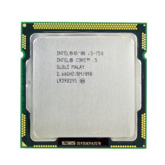 Procesor Intel Core i5-750 8M Cache 2.66 GHz LGA 1156 - Procesor PC Intel, Numar nuclee: 4, 2.5-3.0 GHz