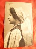 Ilustrata Femeie in Costum National- din Saliste ,inc.sec.XX-  NN Tintea