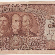 ROMANIA 500 LEI 1949 VF - Bancnota romaneasca