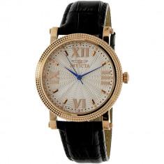 Ceas dama Invicta Vintage auriu roze-auriu Leather Quartz 25752