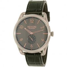 Ceas Nixon barbatesc A4652145 gri Leather Swiss Quartz - Ceas barbatesc