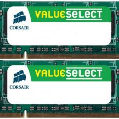 Memorii Laptop Corsair So-DIMM Value Select DDR2, 2x4GB, 800MHz