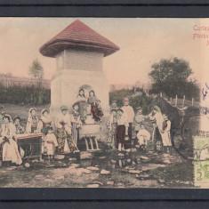 CURTEA DE ARGES FANTANA MESTERULUI MANOLE EDITURA LIBRARIEI GHE. MITU - Carte Postala Muntenia 1904-1918, Circulata, Printata