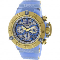 Ceas dama Invicta Subaqua albastru Silicone Japanese Chronograph 24377
