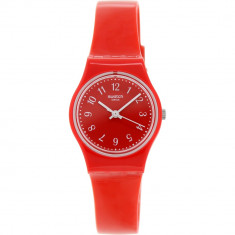 Ceas Swatch dama Originals LR127 rosu Plastic Swiss Quartz