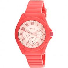 Ceas Fossil dama Poptastic ES4187 roz Rubber Japanese Quartz Fashion - Ceas dama