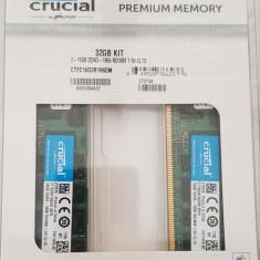 32GB DDR3 - memorie ram ECC pentru MAC Pro 2013, Crucial Premium Memory, sigilat, Peste 16 GB, 1866 mhz, Dual channel