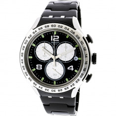 Ceas barbatesc Swatch Night Attack argintiu Aluminum Swiss Quartz YYS4026AG