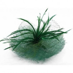 Green Mesh Hat Feather Fascinator - LSH00118