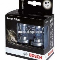 Set 2 becuri Bosch H7 Xenon Silver 12V 55W 1 987 301 087