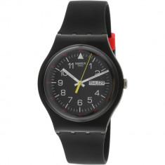 Ceas barbatesc Swatch Yokorace negru Silicone Swiss Quartz SUOB724