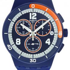 Ceas barbatesc Swatch Match Point SUSZ402 Matte albastru Silicone Quartz SUSZ402
