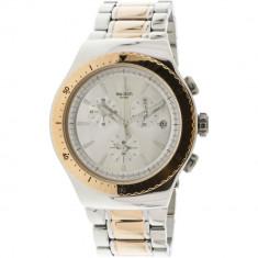 Ceas barbatesc Swatch So Biggar argintiu Stainless-Steel Swiss Quartz YOS452G
