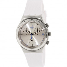 Ceas Swatch barbatesc Irony YCS584 alb Rubber Swiss Quartz