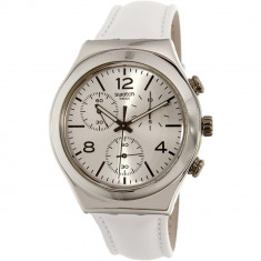 Ceas Swatch barbatesc Irony YCS111 alb Leather Swiss Quartz