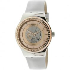 Ceas dama Swatch Sistem Polaire auriu roze-auriu Leather Automatic YIS415