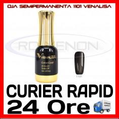OJA SEMIPERMANENTA (PERMANENTA) PEARLY GREY BLACK #1101 VENALISA - MANICHIURA UV