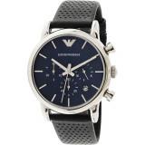 Ceas Emporio Armani barbatesc Classic AR1736 albastru Leather Quartz, Emporio Armani