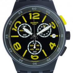 Ceas barbatesc Swatch Pneumatic SUSB412 negru Silicone Quartz SUSB412