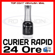 TOP COAT UV VENALISA 12ML - MANICHIURA UNGHII FALSE GEL UV FRENCH - CALITATE MAX