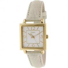 Ceas Timex dama Dress T2P379 bej Leather Analog Quartz Fashion - Ceas dama