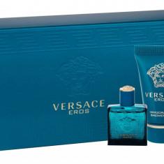 Apa de toaleta Versace Eros Barbatesc 5ML Edt 5ml + 25ml shower gel + 25ml aftershave balm - Parfum barbati