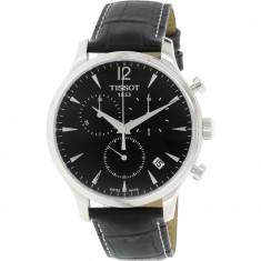 Ceas Tissot barbatesc T063.617.16.057.00 negru Leather Swiss Quartz - Ceas barbatesc