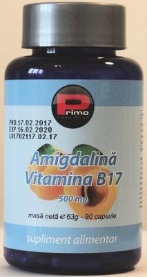 Vitamina B17 500 mg, 90 capsule, concentratie maxima (98% amigdalina) cancer foto