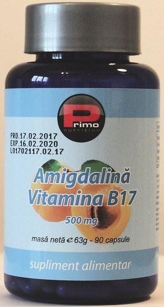 Vitamina B17 500 mg, 90 capsule, concentratie maxima (98% amigdalina) cancer