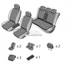 Set huse scaune SKODA SUPERB 2002 - 2008 UMBRELLA 45974 - Husa scaun auto