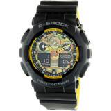 Ceas barbatesc Casio G-Shock negru Resin Japanese Quartz GA100BY-1A