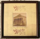 Tablou Cristian Ungureanu Iasi Casa Dosoftei tehnica mixta 22x22 cm, Peisaje, Grisaille, Realism