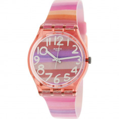 Ceas Swatch dama Originals GP140 roz Plastic Swiss Quartz - Ceas dama