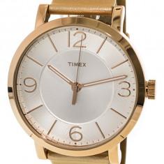 Ceas dama Timex TW2R11600 auriu Leather Quartz TW2R11600