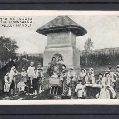 CURTEA DE ARGES FANTANA LEGENDARA MESTERULUI MANOLE EDITURA LIBRARIEI GHE. MITU - Carte Postala Muntenia 1904-1918, Necirculata, Printata