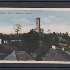 CURTEA DE ARGES SANT NICOARA RUINELE BISERICEI SANT-NICORA - Carte Postala Muntenia 1904-1918, Circulata, Printata