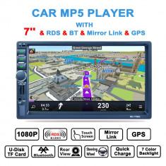 Navigatie Auto Bluetooth MP5 Player radio AM / FM / RDS, Navigatie 2Din