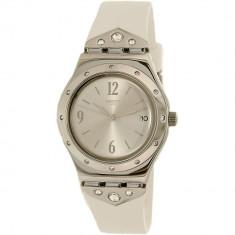 Ceas Swatch dama Scintillating YLS450 alb Rubber Swiss Quartz