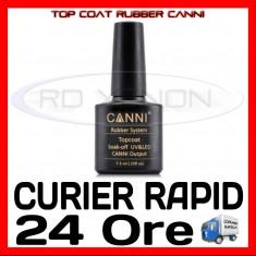 TOP COAT UV RUBBER CANNI 7.3ML - MANICHIURA UNGHII FALSE GEL UV FRENCH