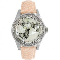 Ceas Invicta dama Angel 23643 argintiu Leather Quartz Fashion - Ceas dama