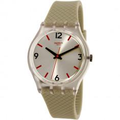 Ceas Swatch dama Originals GE247 bej Rubber Swiss Quartz - Ceas dama