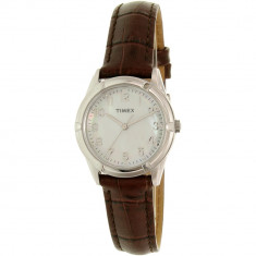 Ceas Timex dama TW2P76300 Silver Leather Analog Quartz - Ceas dama