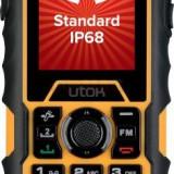 Telefon Mobil Utok Dorel 2, Ecran TFT 2inch, 0.3 MP, Dual Sim (Negru/Portocaliu)